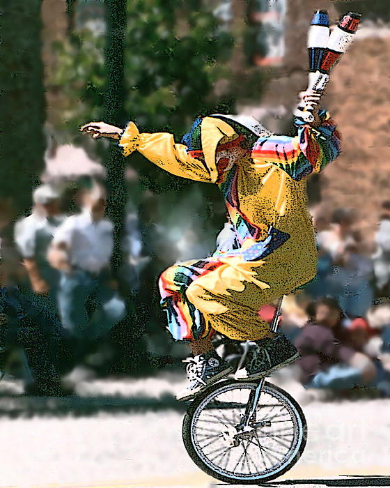 Clown Photograph - Just Clownin by Rick Riley