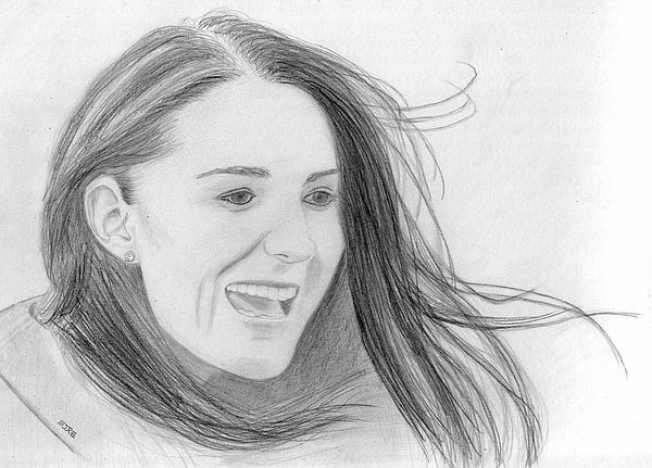 Kate Middleton Drawing - Kate Middleton - Duchess Of Cambridge by Pat Moore