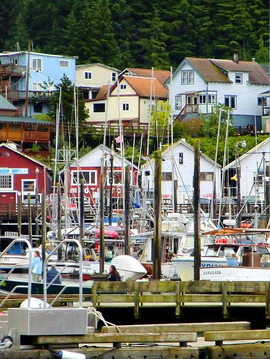 Ketchakan Photograph - Ketchakan Alaska Marina by Mindy Newman