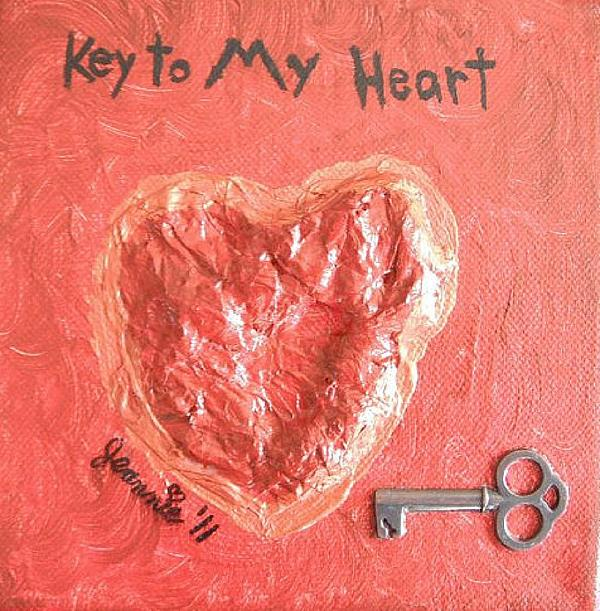 Heart Painting - Key To My Heart by Jeannie Atwater Jordan Allen