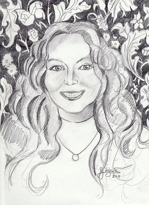 Kimberlydupree Drawing - Kimberly Dupree by John Keaton