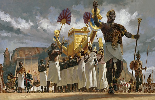 Painting Photograph - King Taharqa Leads His Queens by Gregory Manchess