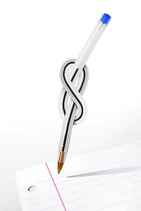 Abstract Photograph - Knot Pen by Carlos Caetano