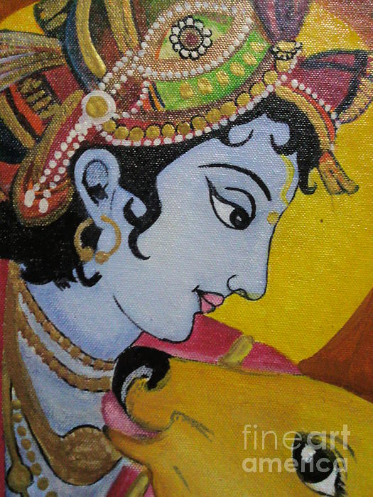 Krishna mural painting painting by rekha artz for Mural painting images