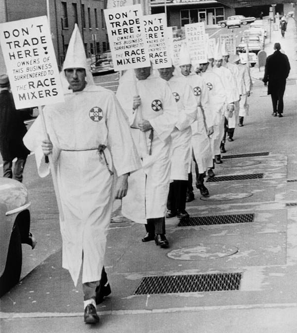 History Photograph - Ku Klux Klansmen Picket Newly by Everett