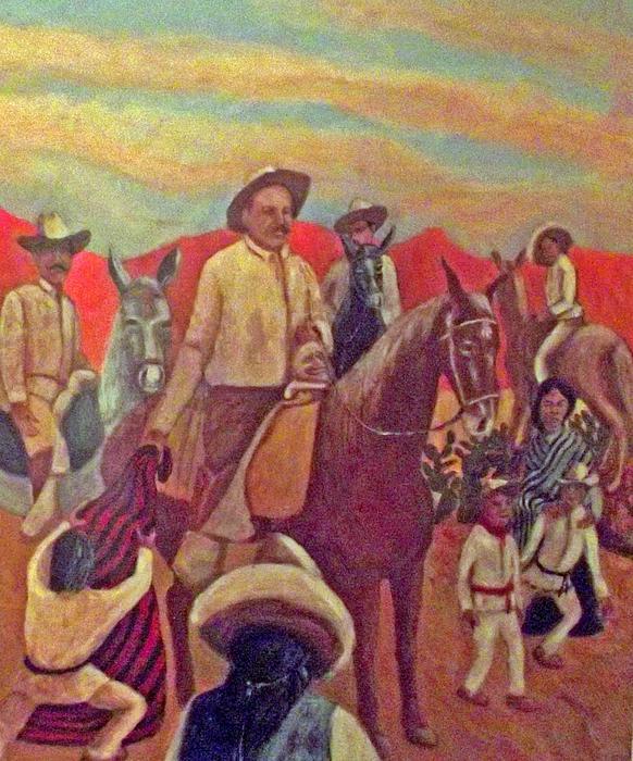 Poncho Villa Painting - La Fiesta De San Martin De Caballo by James R Sanchez