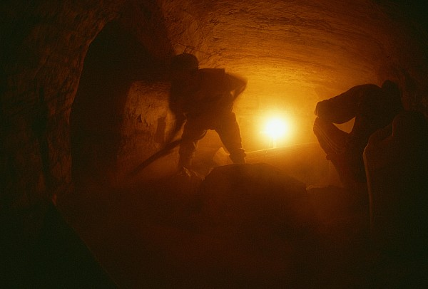 Africa Photograph - Laborers Clear Rubble From The Tomb by Kenneth Garrett