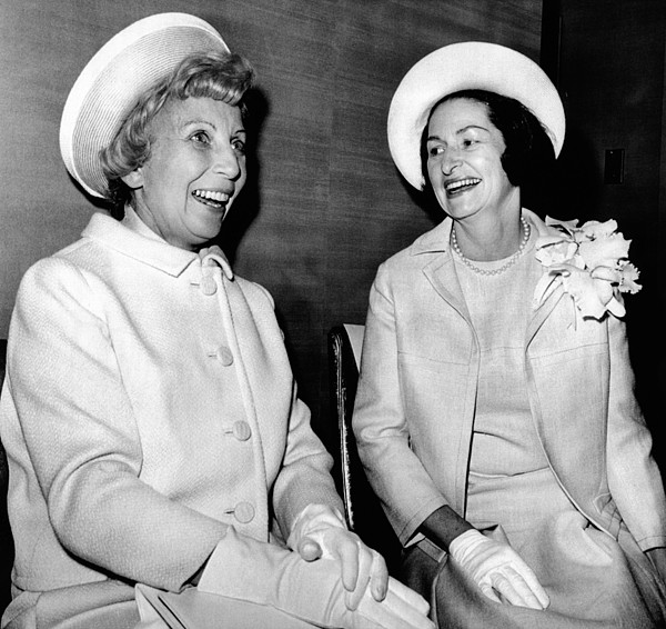 History Photograph - Lady Bird Johnson And Muriel Humphrey by Everett