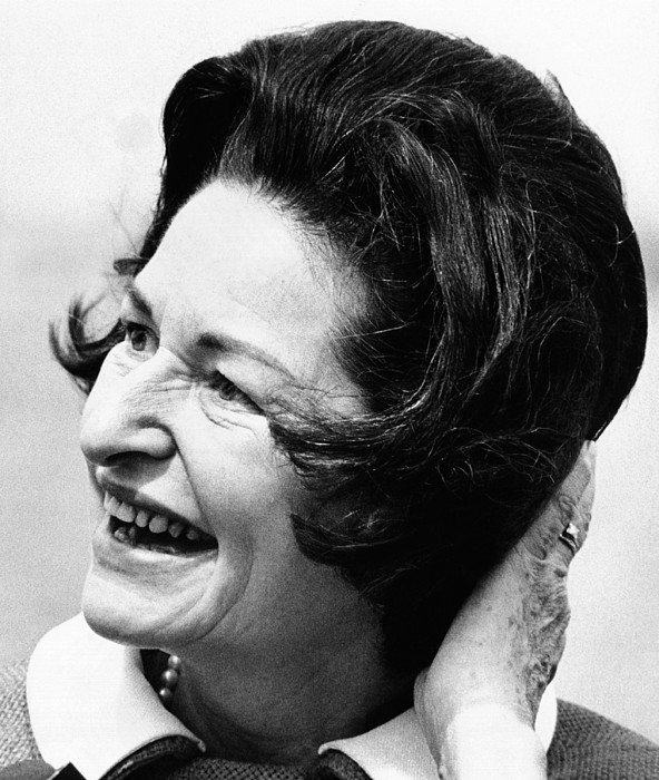 History Photograph - Lady Bird Johnson Smiles As The Wind by Everett