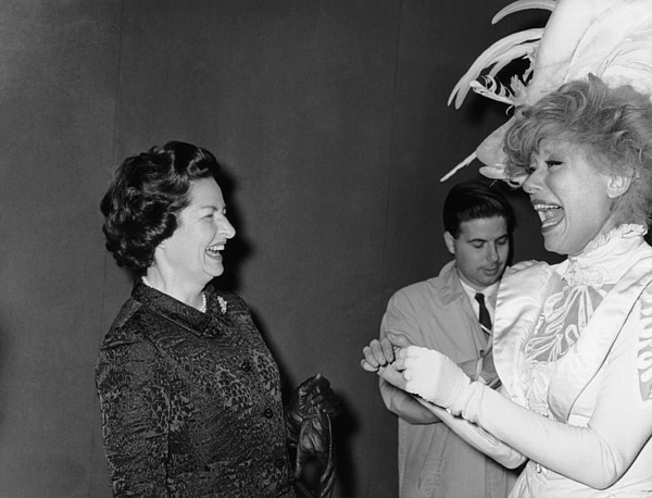 1960s Candids Photograph - Lady Bird Johnson, Visiting Carol by Everett