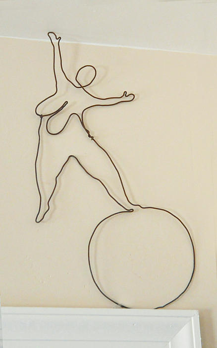 Under The Big Top Sculpture - Lady With 1 Foot On The Ball   by Tommy  Urbans