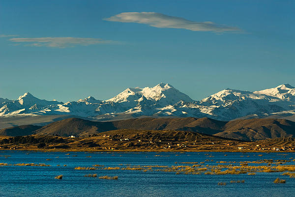 Lake Titicaca Photograph - Lake Titicaca And The Cordillera Real In The Background.republic Of Bolivia. by Eric Bauer