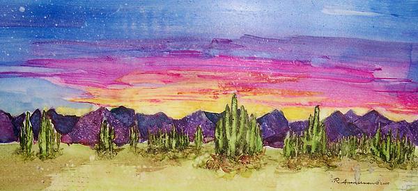 Desert Painting - Landscape by Regina Ammerman