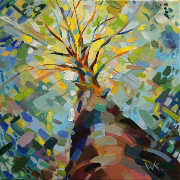 Tree Painting - Last Days Of Summer by Ksenia Wooster