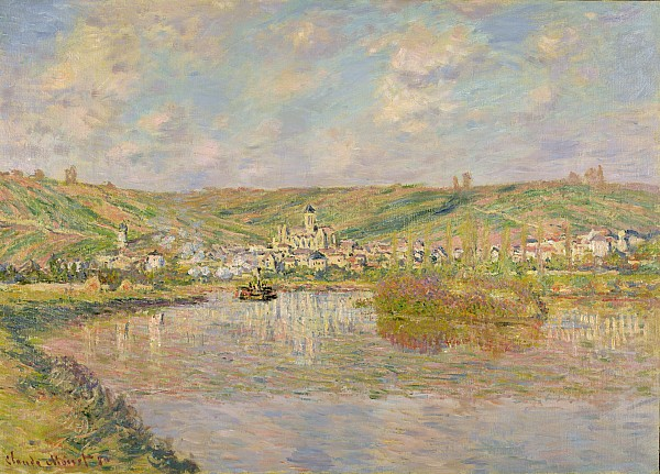 Late Painting - Late Afternoon - Vetheuil by Claude Monet