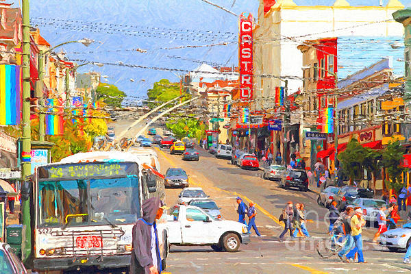 Cityscape Photograph - Late Morning Early Autumn In The Castro In San Francisco by Wingsdomain Art and Photography
