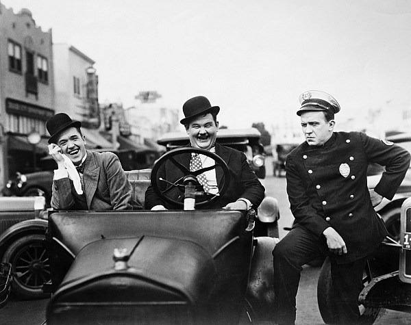 1920s Photograph - Laurel And Hardy, 1928 by Granger