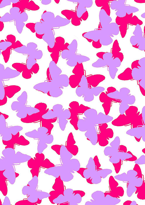 Butterfly Digital Art - Layered Butterflies  by Louisa Knight