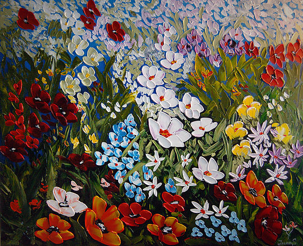 Poppies Painting - Layers Of Happiness  by Irena Sherstyuk