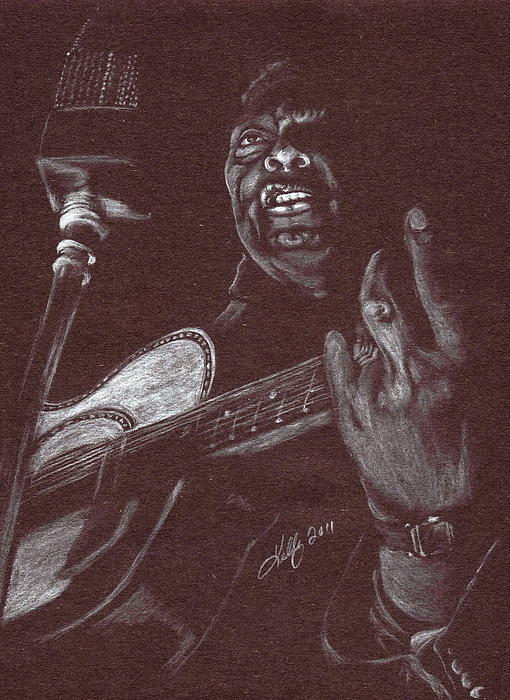 Leadbelly Drawing - Leadbelly by Kathleen Kelly Thompson