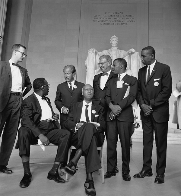 History Photograph - Leaders Of The 1963 March On Washington by Everett