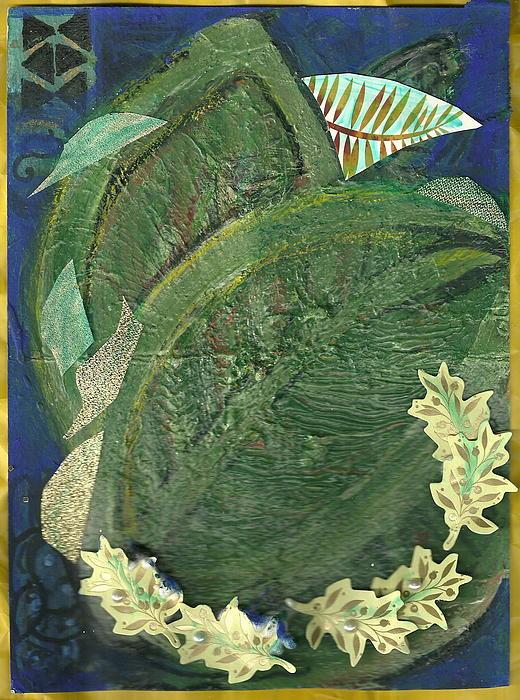 Green Painting - Leafy Greens by Anne-Elizabeth Whiteway