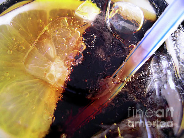 Alcohol Photograph - Lemon And Straw by Carlos Caetano