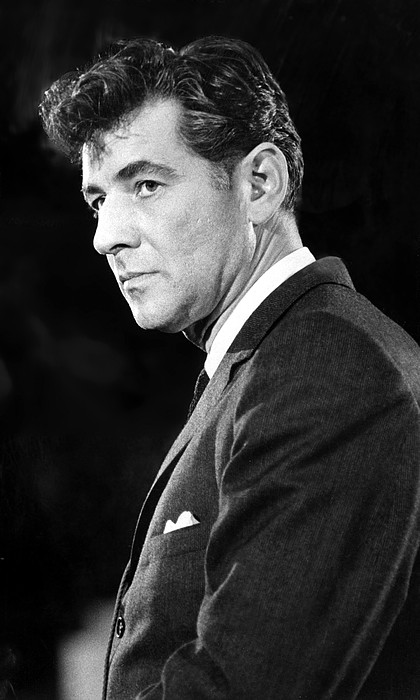 1950s Photograph - Leonard Bernstein 1918-1990 American by Everett