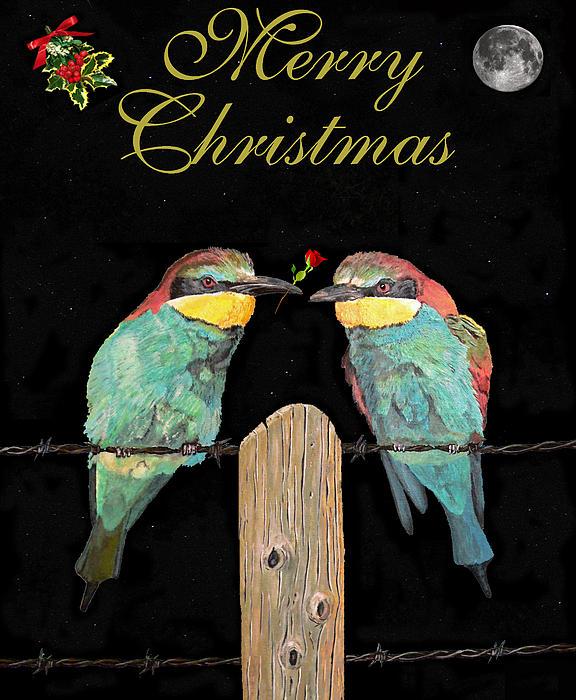 Lesvos Christmas Birds Sculpture - Lesvos Christmas Birds by Eric Kempson