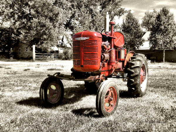 Old Tractor Photograph - Life On The Farm by Susan Kinney