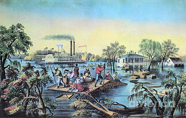 History Photograph - Life On The Mississippi, 1868 by Photo Researchers