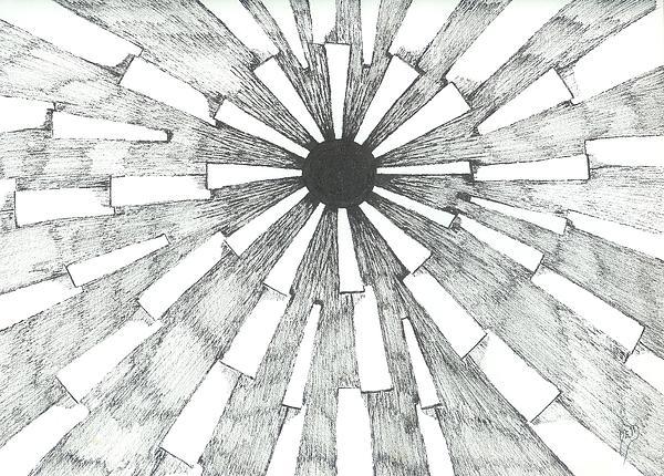 Light Drawing - Light In The Dark - Sketch by Robert Meszaros