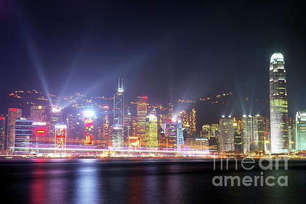 Tst Photograph - Lighting Up The Harbor by Bibhash Chaudhuri