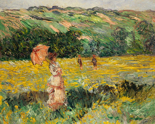 Landscapes Painting - Limetz Meadow by Claude Monet