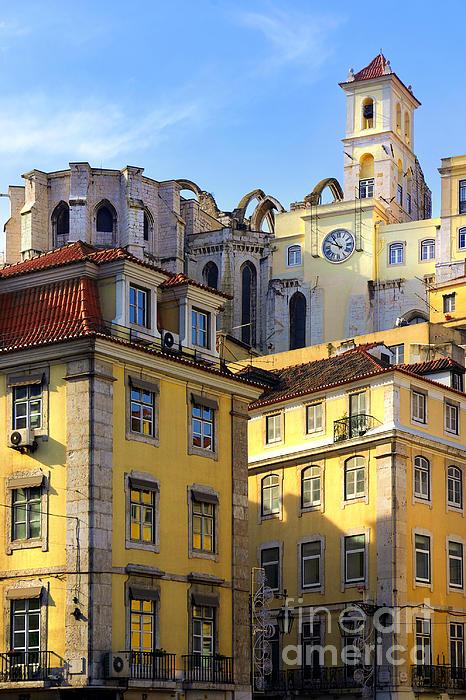 Ancient Photograph - Lisbon Buildings by Carlos Caetano