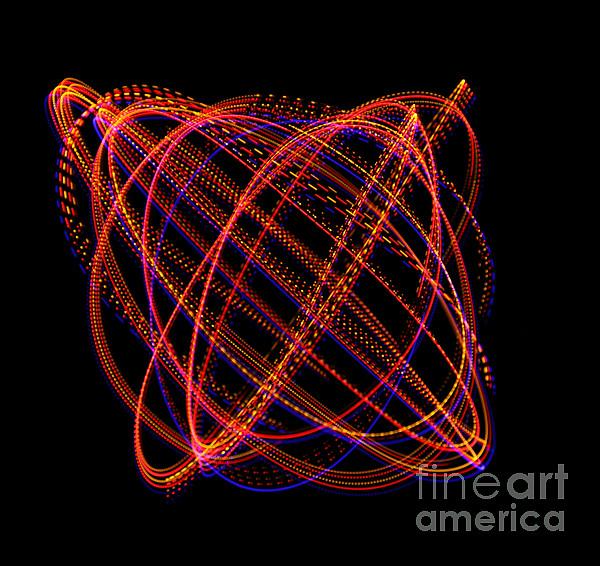 Oscillation Photograph - Lissajous Figure by Ted Kinsman