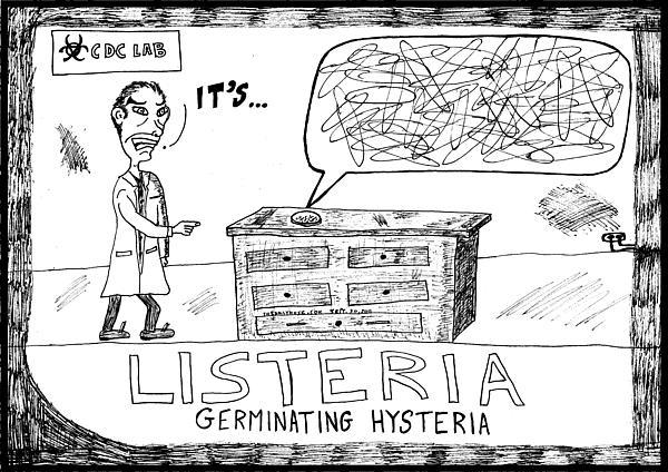 Listeria Drawing - Listeria Hysteria by Yasha Harari