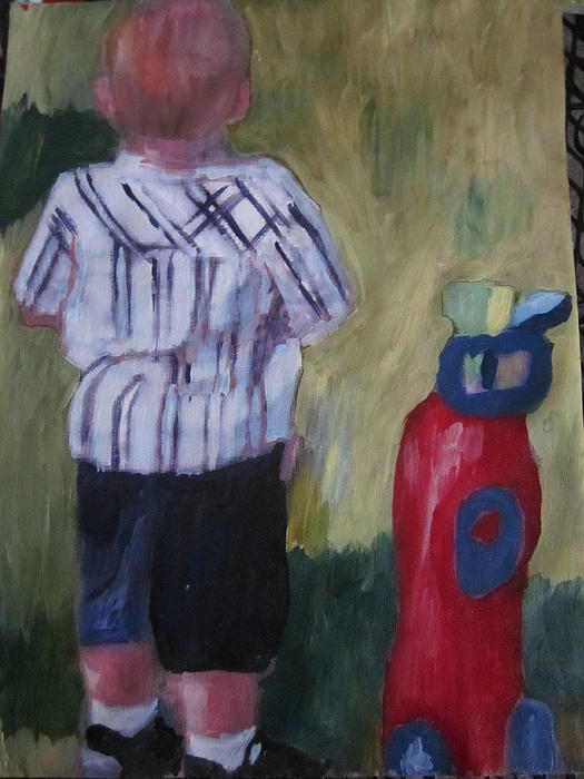Golf Painting - Little Golfer by David Poyant