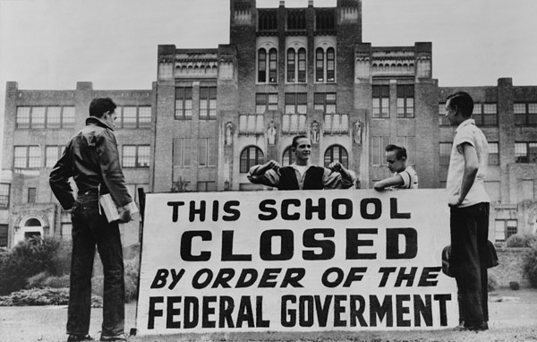 History Photograph - Little Rock Central High Was Closed by Everett