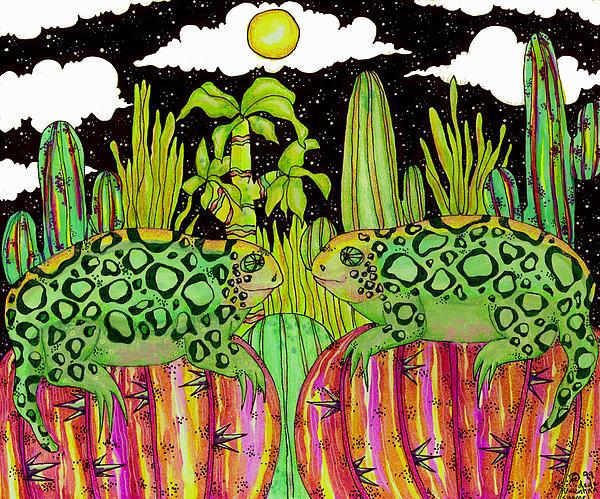 Lizards Painting - Lizards In Love by Dede Shamel Davalos