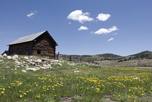 Day Photograph - Log Cabin On The High Country Ranch by Rich Reid