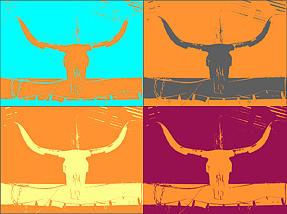 Digital Art - Longhorns by Amber Hennessey