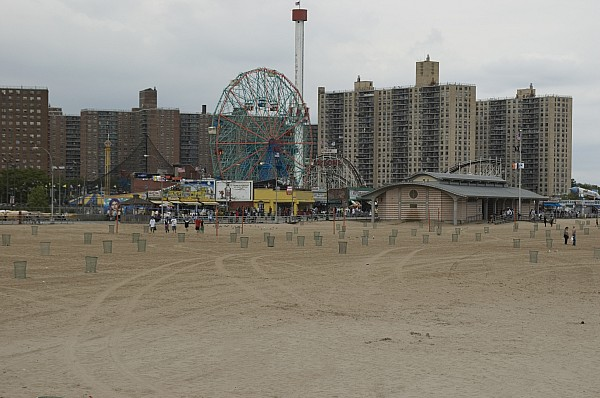 Ferris Wheel Photograph - Looking Across The Beach To The Ferris by Todd Gipstein