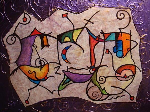 Acrylic Mixed Media - Love Living by Catherine Nichols