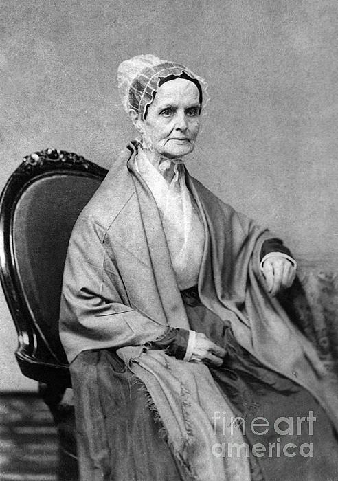 History Photograph - Lucretia Coffin Mott, American Activist by Photo Researchers