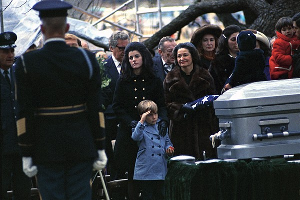 History Photograph - Lyndon Johnson Funeral. Lyn Nugent by Everett