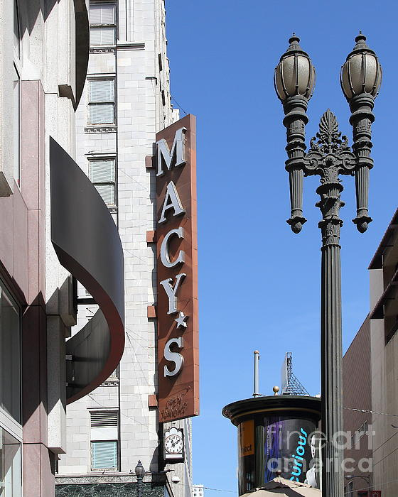 Stockton Street Photograph - Macys Department Store In San Francisco by Wingsdomain Art and Photography