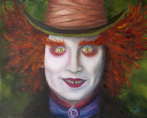 Mad Painting - Mad As A Hatter by Thea Wolff