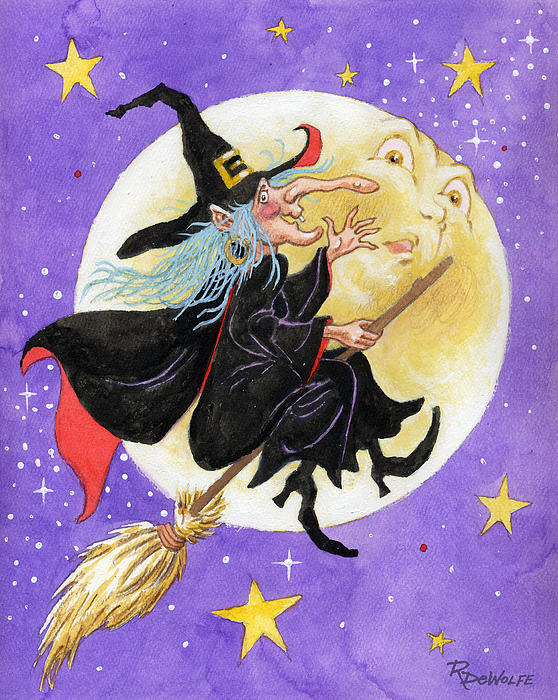 Halloween Painting - Mad Millie by Richard De Wolfe