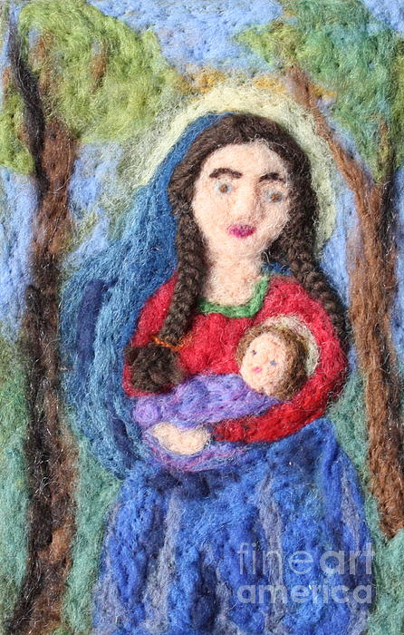 Madonna Tapestry - Textile - Madonna And Child by Nicole Besack